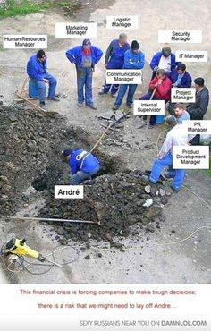 Due to Reccession, company is going to lay off Andre.....!!