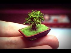 I made some very cute miniature bonsai tree this week. Hope you like it:) I used: -polymer clay -wire -artificial moss -green pom-po...