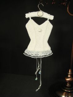 Chastity Wedding Day UNDERMENTS Christmas Lingerie Ornament Decor OOAK Handmade