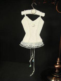 Chastity Wedding Day UNDERMENTS Christmas Lingerie Ornament Decor OOAK Handmade