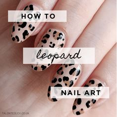 How to do leopard print nail art – a step by step nail art tutorial. Easy nail a… How to … Leopard Nail Art, Leopard Print Nails, Diy Manicure, Diy Nails, Manicures, Nail Art Techniques, Nail Blog, Dipped Nails, Glitter Nail Polish