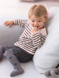 verbaudet Camiseta marinera bebé niña 3 meses a 3 años ROSA CLARO A RAYAS
