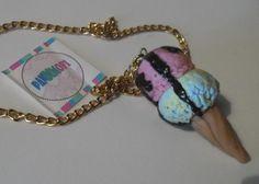 helado kawaii doble