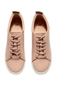 Skórzane buty sportowe   H&M