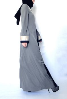 closed front abayas are so handy   Tulip Abaya – Grey
