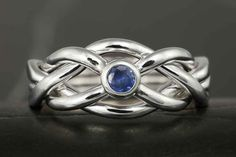 Sapphire narrow puzzle ring