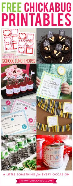 Free printables from Chickabug!