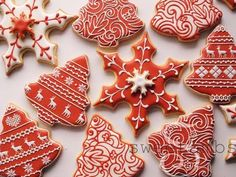 SweetAmbs' Red and White Christmas Cookies