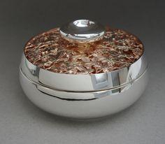 Mixed Leaf silver treasure box