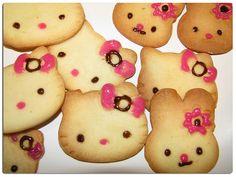 hello kitty sugar cookies-- so easy and cute