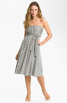 Elan Stripe Convertible Cover-Up (Swimsuit cover-up? Pretty sure I'm going to wear as a dress... all the time) $38
