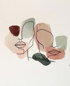 watercolor art for beginners & watercolor art for beginners Art Sketches, Art Drawings, Minimal Drawings, Art Watercolor, Simple Watercolor Paintings, Simple Watercolor Flowers, Abstract Line Art, Abstract Print, Minimalist Art