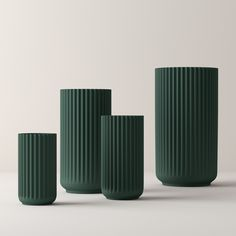 Lyngby vase Copenhagen green matt from Lyngby Porcelæn by Lyngby Porcelæn
