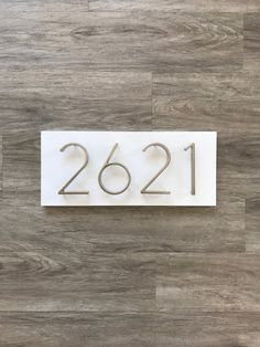 11032497147 Items similar to Modern White Address Plaque    Modern Rustic House Number  Plaque    White Horizontal Address Sign on Etsy