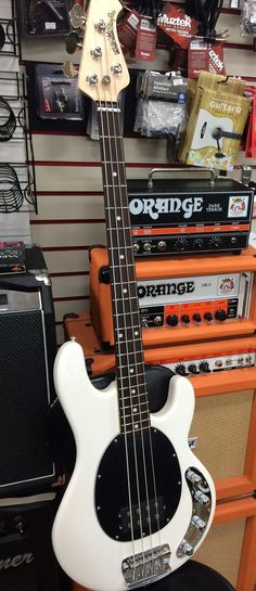 Musicman Stingray Bass | With Orange Amps in the background