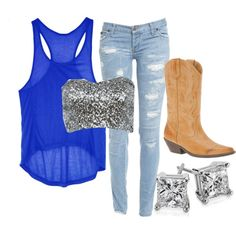 """""""Country Summer Fling"""" by small-town-country-gurl on Polyvore"""