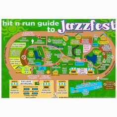The most accurate Jazz Fest map known to man