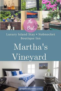 A Marthas Vineyard bed and breakfast provides a quintesssential New England getaway. The award winning Nobnocket Inn combines island luxury with a modern twist. | Where to stay on Martha's Vineyard | New England Boutique Inn | Martha's Vineyard Hotels #Massachusetts #island #NewEngland #marthasvineyard
