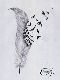 87012-feather-and-bird-drawing-tumblr-feather-tattoo-by-ephygenia.jpg 1,024×1,365 pixels