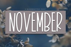 November - A Tall Handwritten Font - Free Font of The Week was our Free Premium Font Of The Week. Our Free Font Of The Week is available each week exclusively from Font Bundles. Grab your free fonts for a limited time only Cute Fonts, Awesome Fonts, Pretty Fonts, Fancy Fonts, Beautiful Fonts, Silhouette Fonts, Silhouette Cameo, Online Fonts, Otf Font