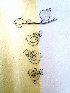 cute wire birds