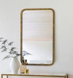 Metal Glass Contemporary Empire Mirror