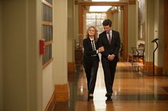 Pin for Later: It Looks Like There Will Be Lots of Emotional Moments on the Parks and Rec Finale  Is this Leslie (Amy Poehler) and Ben's (Adam Scott) last stroll through City Hall?