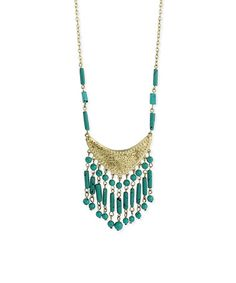 Another great find on #zulily! Turquoise & Goldtone Crescent Necklace by ZAD #zulilyfinds