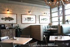 classic • casual • home: My Friends Cool New Coastal Restaurant.  weathered driftwood colored walls