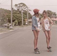 Skater girls are so cool at SoCal <3 kaitlyn girls love being adventures