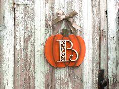 Monogrammed Pumpkin Decoration