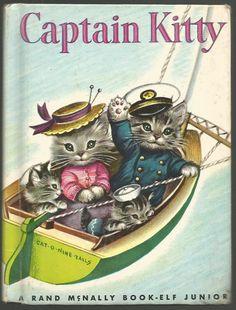 Junior Elf 1959 ''Captain Kitty', ill. Elizabeth Webbe   eBay