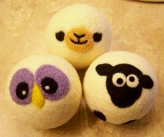 Just Ewe Wool Felt Balls Dryer Balls Toys by andersonsawedoffacre
