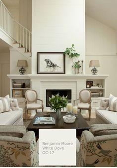 #whitepaint #whitedove #benjaminmoore #interiordesign velvetsedge.com