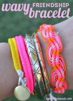 DIY Wavy Friendship Bracelet #knots #macrame