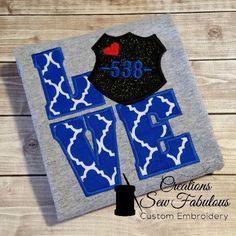 Police Officer Wife, Police Officer Requirements, Police Wife Life, Leo Wife, Proud Wife, Police Crafts, Police Love, Applique, Police Shirts