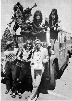 Stan Lee and KISS (1976?)