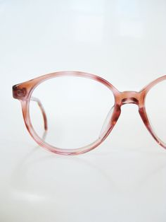 93611c4750d Vintage Rose 1960s Round Eyeglasses P3 Glasses Womens Teens Pastel  Tortoiseshell 60s Sixties Indie Hipster Chic Ladies USA Pink Deadstock