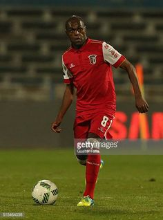 BragaÕs midfielder Luiz Carlos in action during the Primeira Liga match between Os Belenenses and SC Braga at Estadio do Restelo on March 13 2016 in. Sc Braga, March, Action, Running, Sports, Premier League, Racing, Group Action, Keep Running