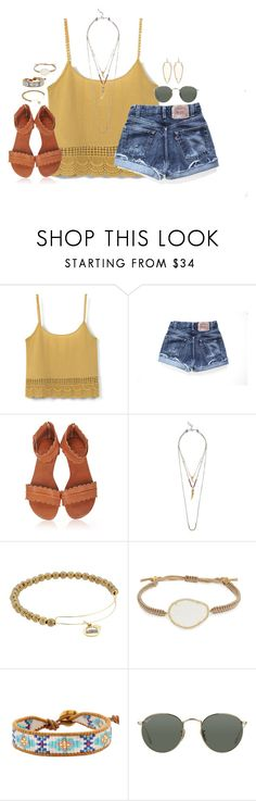 """""""please read description!"""" by kaley-ii ❤ liked on Polyvore featuring MANGO, Levi's, Lucky Brand, Alex and Ani, Tai, Chan Luu, Ray-Ban and Kendra Scott"""