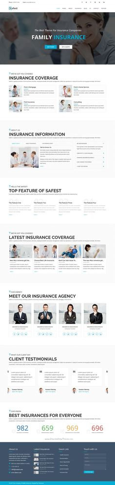 Safest is a clean and professional 3 in 1 #Joomla template for #Insurance, Business or Financial agency website. Download Now➝ https://themeforest.net/item/safest-insurance-agency-business-joomla-template/16729024?ref=Datasata