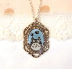 Totoro!  Hand-painted by yael360 on etsy.