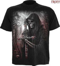 SPIRAL DIRECT SOUL SEARCHER T-Shirt,Reaper/Skull/Biker/Horror/Gothic/Goth/Top
