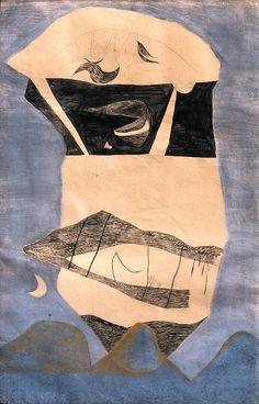 Lajos Vajda, Huge Landscape Mask, 1938.