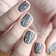 Wood tree nails for spring by @nailscope
