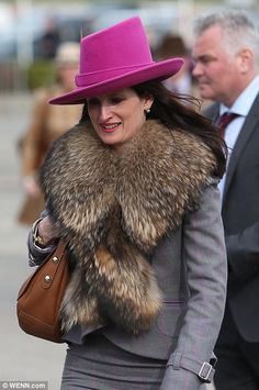 Cheltenham 2015 - Another opted for a glamorous bright pink trilby