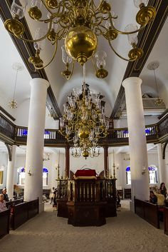 Synagogue Mikve Israel-Emanuel in Curaçao. One of the oldest synagogues in the western hemisphere.