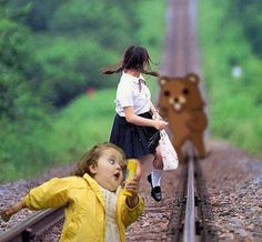 Run little girl becasue pedobear is gaining on you! Pedobear, Funny As Hell, Hilarious, Smosh, Bear Cartoon, Girl Running, Track And Field, Looks Cool
