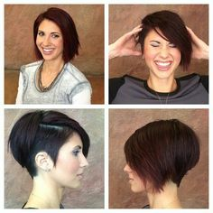 Kinda liking this look too... Asymmetrical pixie with very short on the one side