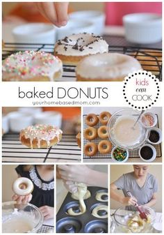 Baked Donuts are so easy the kids will love making them and eating them!